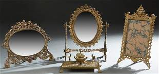 Four Desk Pieces, early 20th c., consisting of a bronze