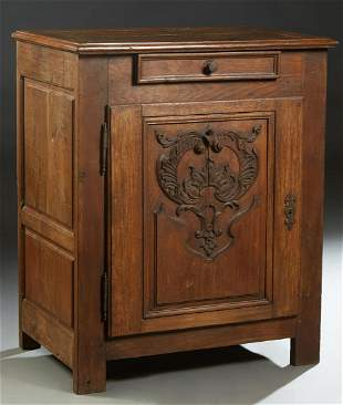 French Provincial Louis XIV Style Carved Oak
