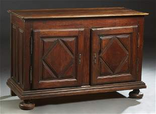 French Louis XIII Style Carved Walnut Sideboard, 19th