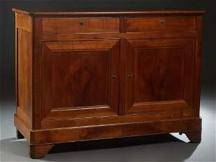 French Provincial Louis Philippe Carved Cherry