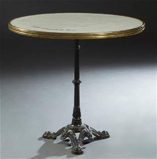 "French Circular Bistro Table, 20th c., for ""Cafe Garden"