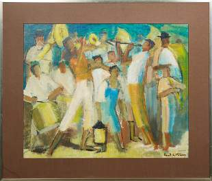 """Paul G. Klein (1909-1944, French), """"Dancing People,"""""""