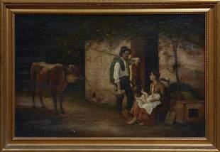 """Pierre Bodard (1881-1937, French), """"Family in a"""