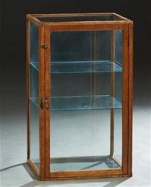 American Carved Oak Table Top Display Case, c. 1900,