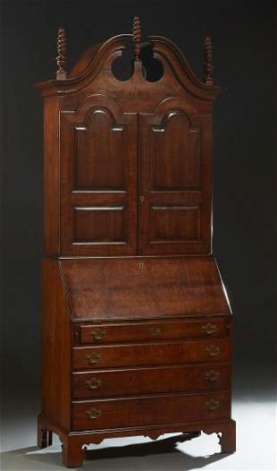 American Georgian Style Carved Mahogany Breakfront