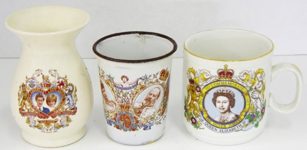 6: Group of Three Coronation Cups, 1902 for Edward VII,