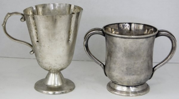 13: Sheffield Silver Plated Loving Cup, 19th c., by E.