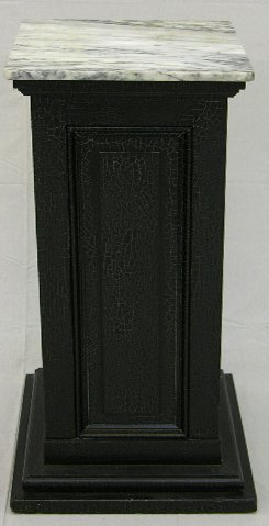 18: Victorian Style Square Paneled Pedestal, 20th c., w