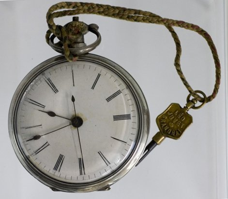 219: Unusual English Sterling Pocket Watch, c. 1870, th