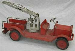 657: Large Steel Keystone Aerial Ladder Fire Truck, c.