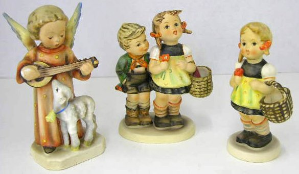 15: Three Hummel Figures- Sister, # 98, To Market, #49