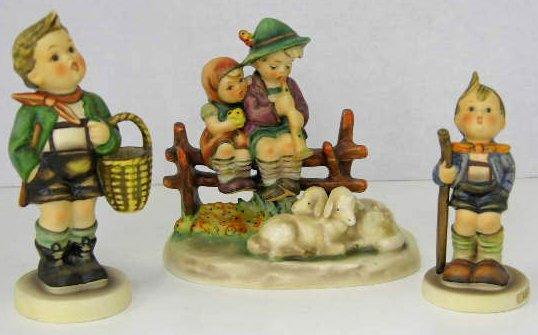 20: Three Hummel Figures- Little Hiker, # 76, Village B