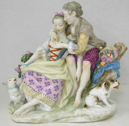 "23: Samson Company Porcelain Figural Group of ""The Flut"