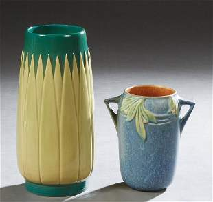 Two Pieces of Roseville Pottery, consisting of a two