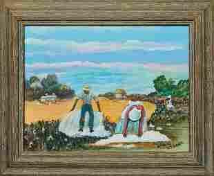 "Billie Stroud (1919-2010, Louisiana), ""Picking Cotton,"""