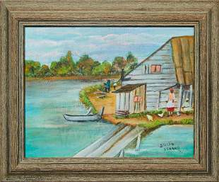 "Billie Stroud (1919-2010, Louisiana), ""At the Cabin,"""