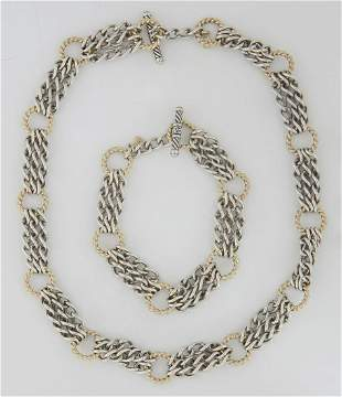 David Yurman Sterling Silver Chain Link Necklace, with