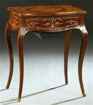 French Louis XVI Style Ormolu Mounted Marquetry Inlaid