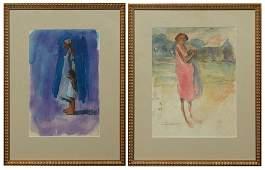 "Don Wright (1938-2007, Louisiana), ""Woman and Child,"""