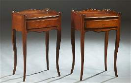 Pair of French Louis XV Style Carved Mahogany