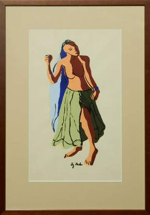 "Sy Mohr (1926-2016, Maryland), ""Female Nude,"" 20th c.,"