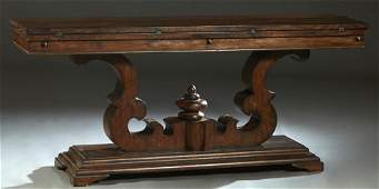 Unusual Carved Mahogany Flip Top Sofa Table, 20th/21st
