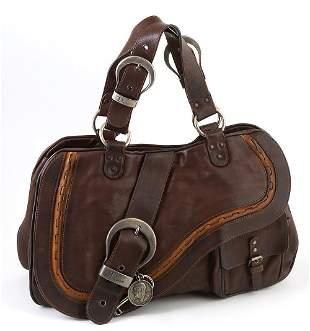 Christian Dior Dark Brown Calf Leather Gaucho Saddle