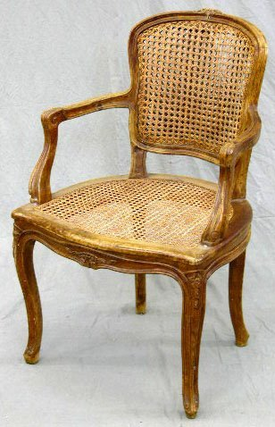2: French Louis XV Style Carved Mahogany Fauteuil, earl