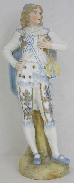 11: Continental Polychromed Bisque Figure, 19th c., of