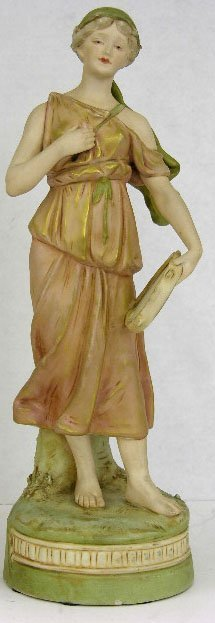 23: Royal Dux Figure, c. 1900, of a classically draped
