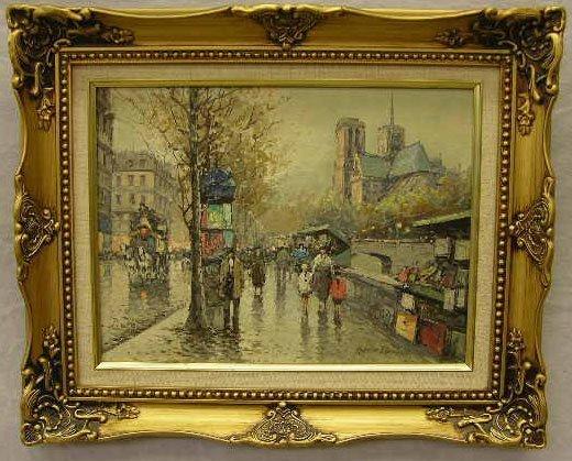"""134: Antoine Blanchard (1910-1988 ), """"Paris Street Scen"""