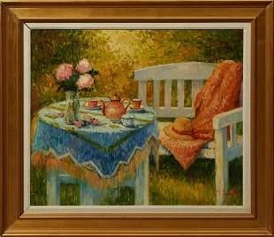 "Henri Joseph Pauwels (1903-1983, Belgian), ""Breakfast"