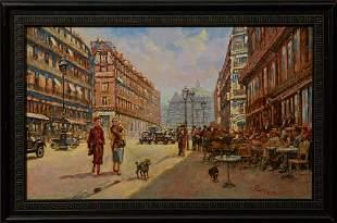 "Pierre Guillaume (1954-, French), ""Paris Street Scene,"""
