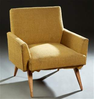 Paul Mccobb Upholstered Bergere, c. 1960. the canted