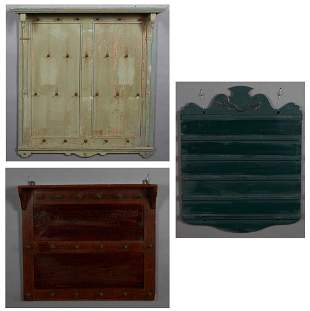Group of Three Wall Mount Boards, 20th c., one mahogany