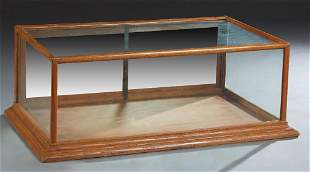 Carved Oak Table Top Display Case, early 20th c., with
