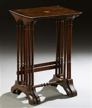 Nest of Three Anglo-Chinese Nesting Tables, 19th c.,