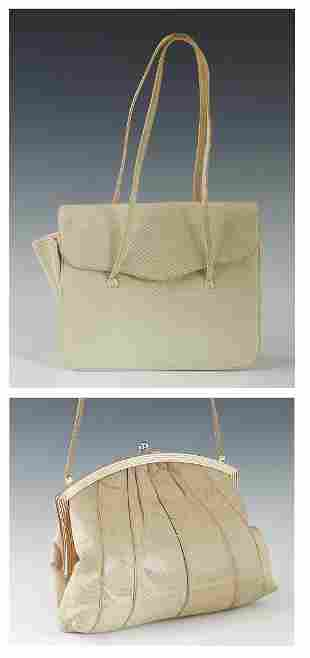 Two Vintage Judith Leiber Lizard Handbags, the first