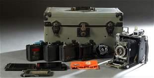 Vintage Graflex 4x5 Camera, with an Optar f 4.5 lens,
