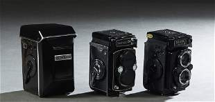 Group of Three Vintage Yashica Mat Cameras, Two- 124G,