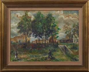 """Gustavo Cochet (1894-1979), """"Country Landscape with"""