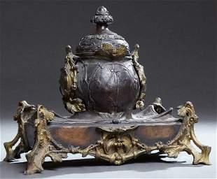 French Art Nouveau Oriental Style Cast Metal Garniture