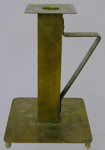 9: Bradley & Hubbard Arts and Crafts Brass Chamber Stic