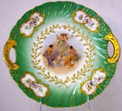 10: Porcelain Handled Tray, c. 1900, by Victoria of Aus