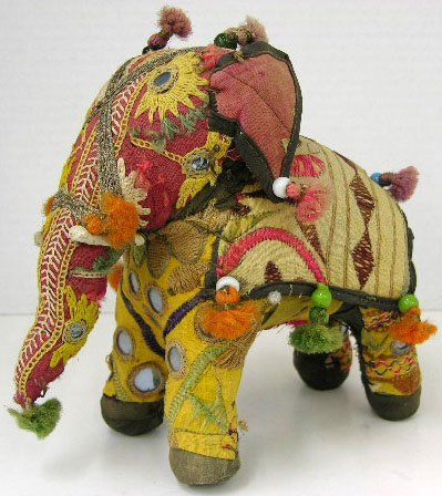 20: Indian Embroidered Figure of an Elephant, early 20t