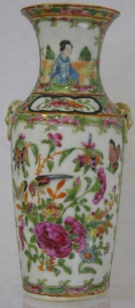 23: Famille Rose Porcelain Baluster Vase, 19th c., with