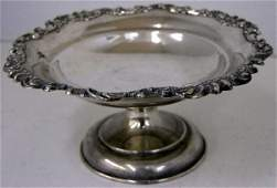 321: Sterling Footed Compote, early 20th c., #882, with