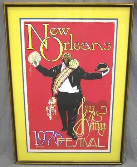 519: 1976 New Orleans Jazz and Heritage Festival Poster