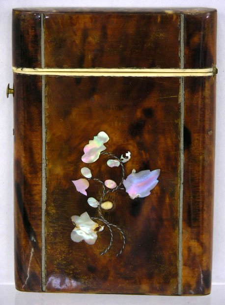 767: English Tortoise Shell and Ivory Card Case, 19th c