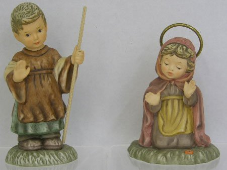 7: Two Berta Hummel Figures- Mary, # BH/26A, and Joseph